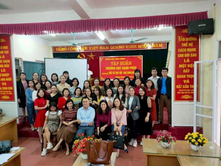 Tập huấn về Trường học Hạnh Phúc cho cán bộ, giáo viên THCS Phụng thượng